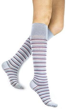 15-20mmHg Graduated Support Compression Socks – Rejuva Men & Women, Stripe Pattern