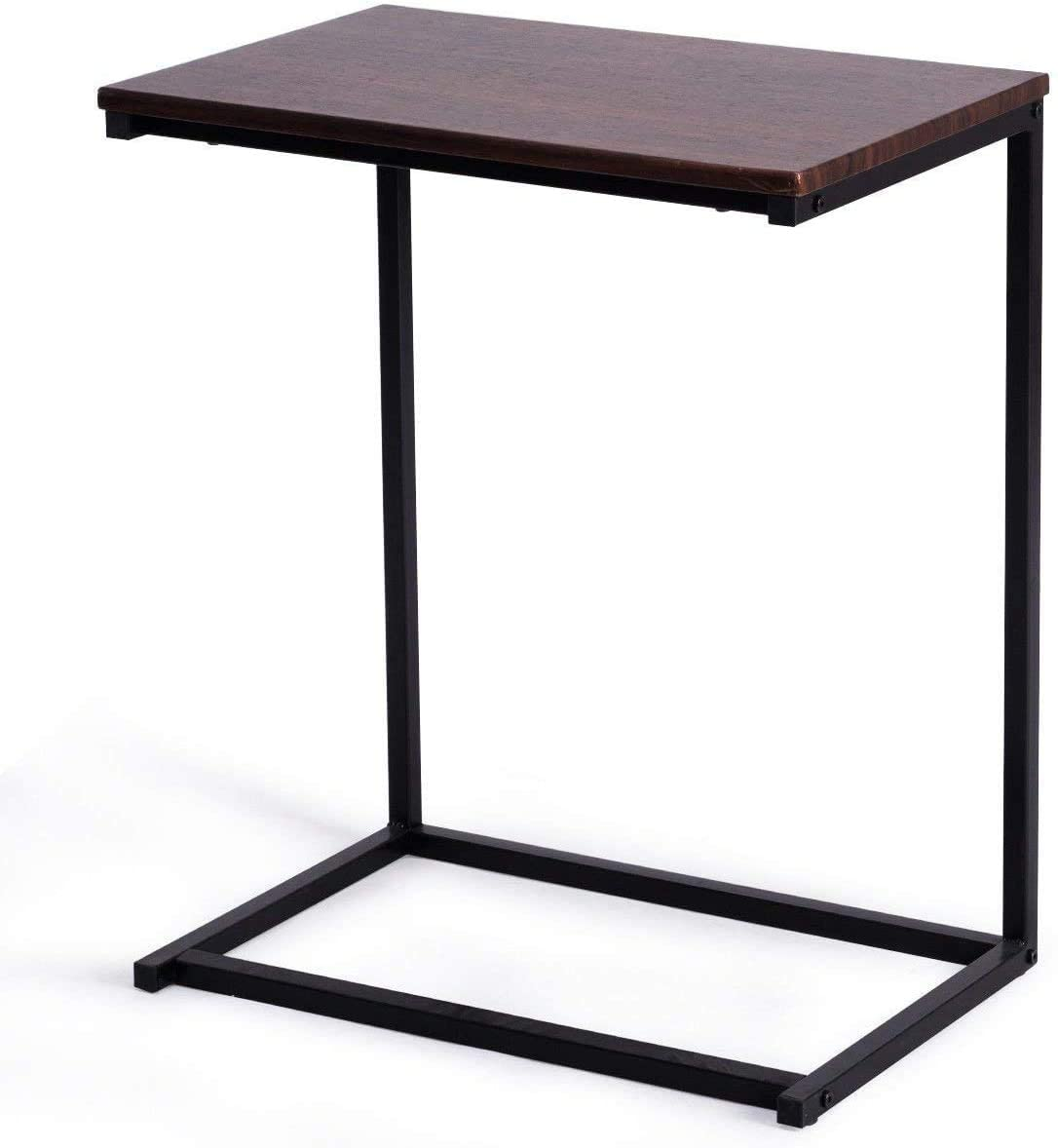 ARLIME End Table, C Shaped Laptop Holder, Side Table for Bed and Sofa, Coffee Tray and Portable Workstation, Over Bed Table