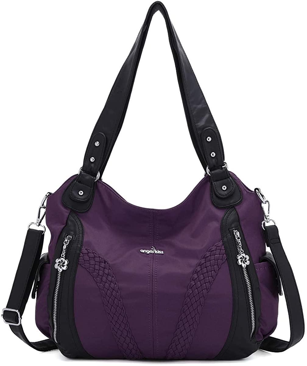 Hobo Women Handbags Roomy Multiple Pockets Street ladies Shoulder Bag Fashion Soft Washed Leather Tote Satchel Bag