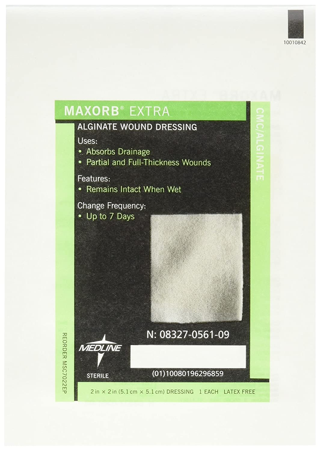 Medline MSC7022EPZ Maxorb Extra Dressings, 2