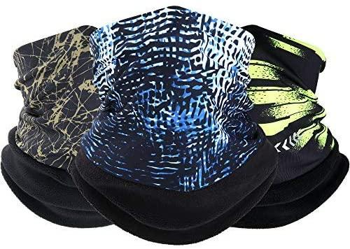 WPTCAL Soft Fleece Neck Gaiter Warmer Face Mask for Winter Skiing Outdoor Sports