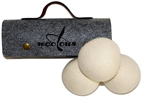 Woolous 100% Wool Laundry Dryer Balls – Naturally Reduce Wrinkles, Static, Drying Time, 3-Pack