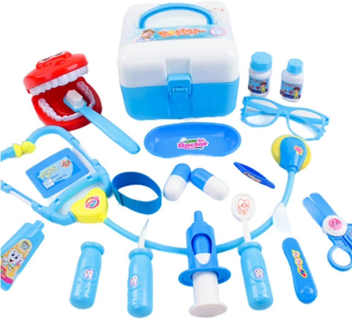 ANNISOUL Doctor Kit for Kids, 20 Pcs Medical Dentist Set with Stethoscope,Carry Case.Ideal for Kids, School Classroom and Doctor Roleplay Dress Up