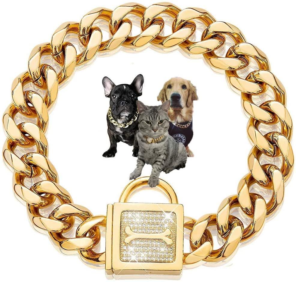 Ronger 19Mm Gold Cuban Link Chain(18-28