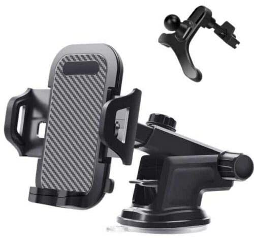 MASO Car Phone Holder, Wireless Car Charger Mount -Rotatable 3 in 1 Car Windscreen Suction Cup Window Mount Mobile Phone Holder Bracket
