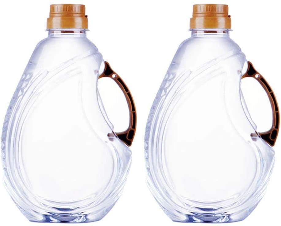 Hemoton 2 Pcs Olive Oil Dispenser Bottle Leakproof Condiment Glass Container With Automatic Cap Non-Drip Spout Soy Sauce Vinegar Cruet Bottle for Kitchen Cooking BBQ Fry