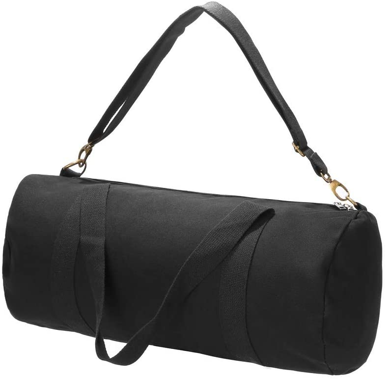 Augbunny Heavy Duty Military and Army Cargo Style 100% Cotton Canvas Shoulder Travel and Storage Duffel Bag Outback Gym Bag Carryall Duffel Tote for Men and Women