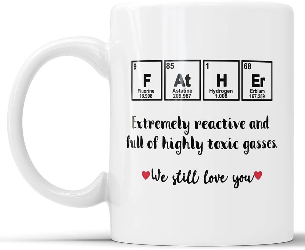 Funny Dad Coffee Mug Birthday Mug For Dad Dad Funny Mug Fathers Day Mug Dad Gifts From Son Gifts For Dad Gift For Dad Fathers Day Mugs Joke (15 oz)
