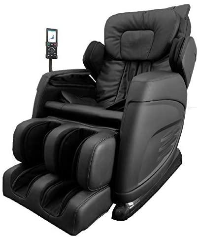 Slabway Shiatsu Massage Chair Built-in Heat and Air Massage System - Zero Gravity Neck, Back, Shoulder, Legs & Foot Massager- Deep Tissue Massage & Full Body Stretching - No More Pain, Black