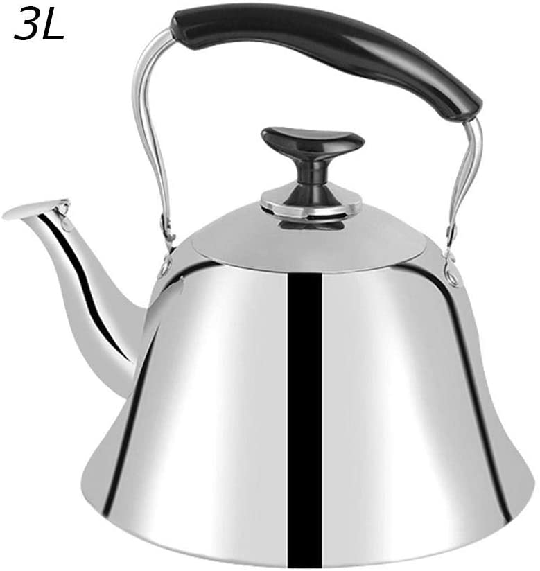 Whistling Tea Kettle, Stainless Steel Teakettle for All Stovetop, Tea Pot with Heat-resistant Ergonomic Handle for Induction Cookers Gas Stoves