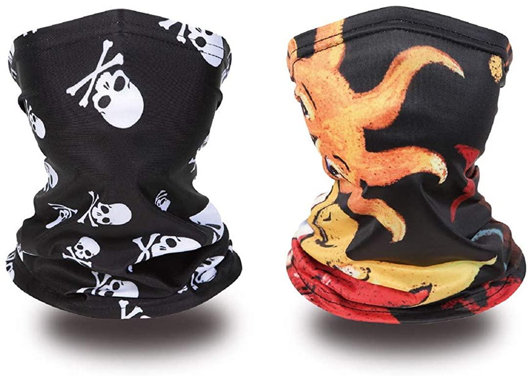 Kids Neck Gaiter Kids Face Covering Children Bandanas Face Scarf Headband