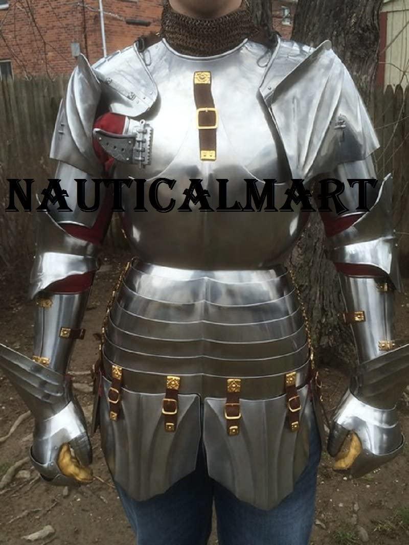 NAUTICALMART Plate Armour Suit Medieval Costume Steel Armor