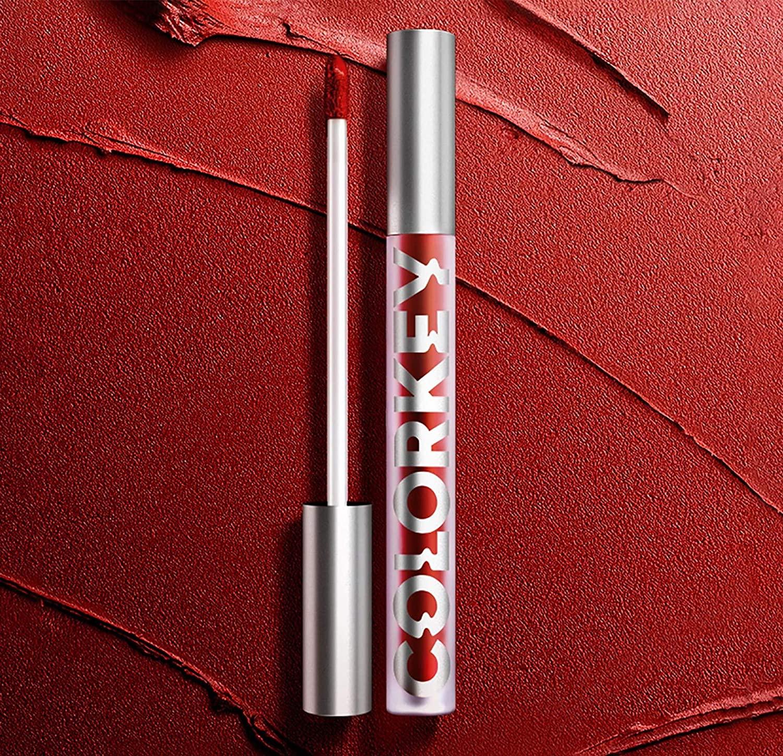 aniskps Color-Key Velvet Matte Lip Glaze Matte Fog Face Lip Glaze Lasting Color Air Lip Gloss (611D)