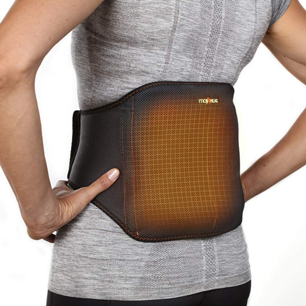Moji Heated Lower Back Wrap – 3 Sizes – Delivers #1 Doctor Recommended Treatment for Back Pain – Relieves Muscle Tension – Safe, Natural Moist Heat Therapy – Microwavable – Wear While On The Go