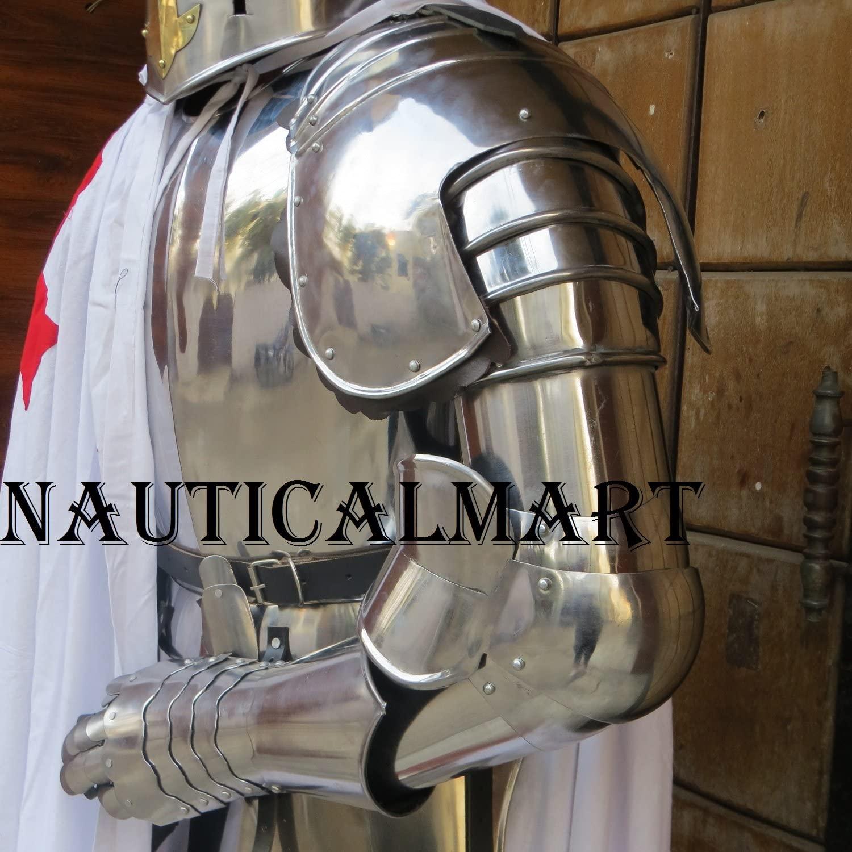 NauticalMart LARP Complete Medieval Arms Armor Set Knight Halloween Costume