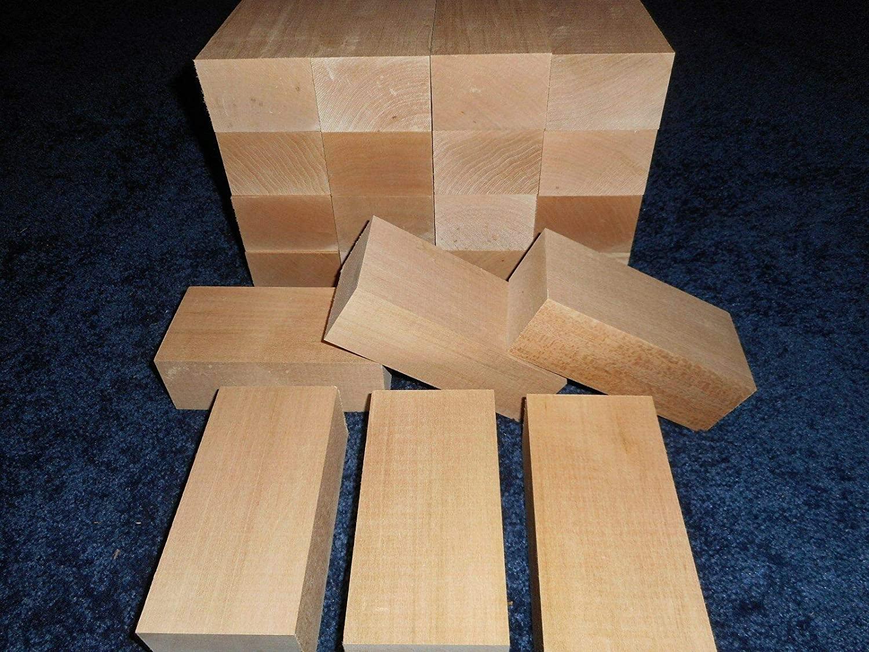 Basswood Kiln Dried Lathe Turning Exotic Wood Bowl Blanks Blocks, 2 x 4 x 8, Set of 4
