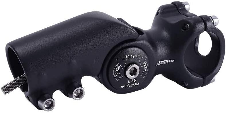 DONGKER Bike Stem, Mountain Bicycle Stem Short Handlebar Stem 120 Degree Adjustable MTB Stem for Road Bike, Mountain Bike, MTB