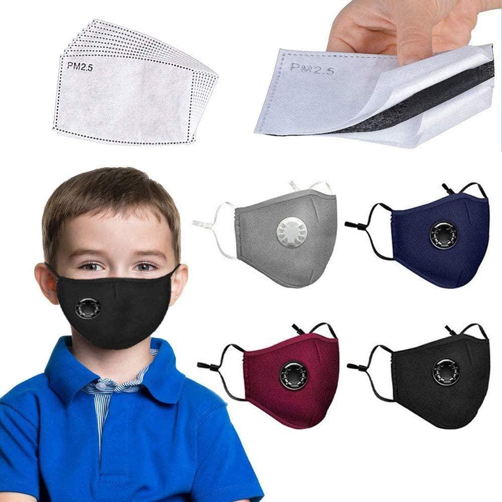 Cotton Face Towel-4 Cotton + 8 Filter Element, Fashionable, Breathable, Washable And Reusable for Children