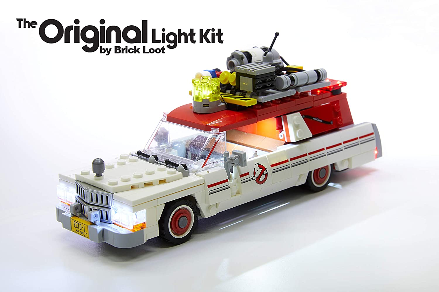 Brick Loot LED Lighting Kit for Lego Ghostbusters Ecto 1 & 2 - 75828 (Lego Set NOT Included)