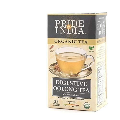 Pride Of India Organic Oolong Tea, 25 Tea Bags