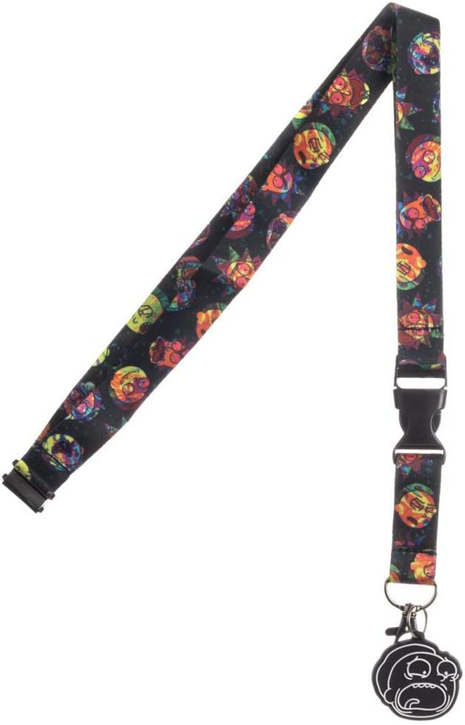 Rick and Morty Psychedelic Expressions Breakaway Lanyard with Charm
