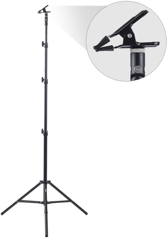 Fovitec - 83 Clamp Stand Kit for Photo & Video Pop-Out Backdrops & Reflectors