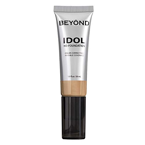 BEYOND Idol Color Correcting and Invisible Coverage HD Liquid Vegan Foundation Makeup (YM38), 1.0 fl.oz