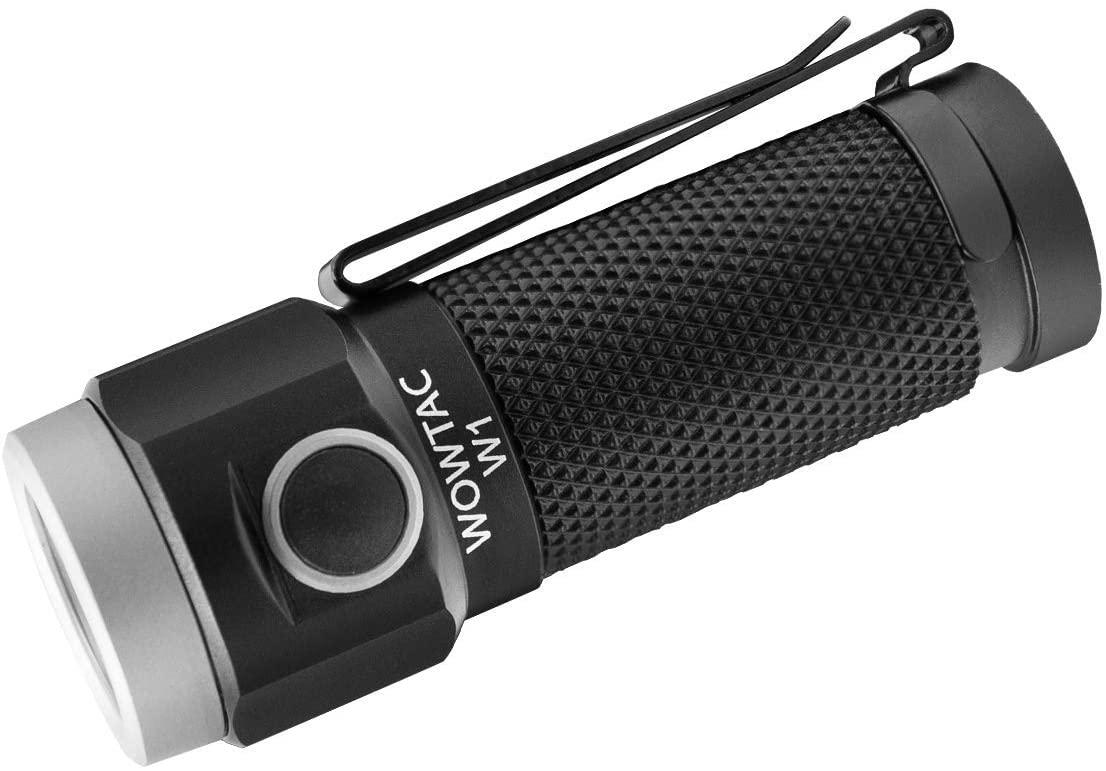 WOWTAC W1 EDC Flashlight with Magnetic Tailcap, 562 High Lumens, 6 Modes LED Flashlight, Keychain Pocket Flashlight, 16340 650mAh Battery Included - CW