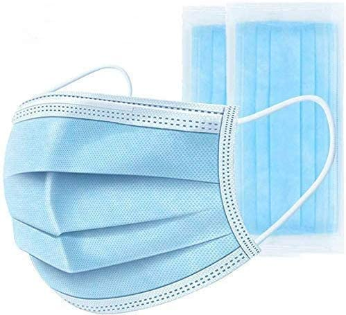 Disposable Face-mask,50PCS -Blue -3 -layer(xc-5)