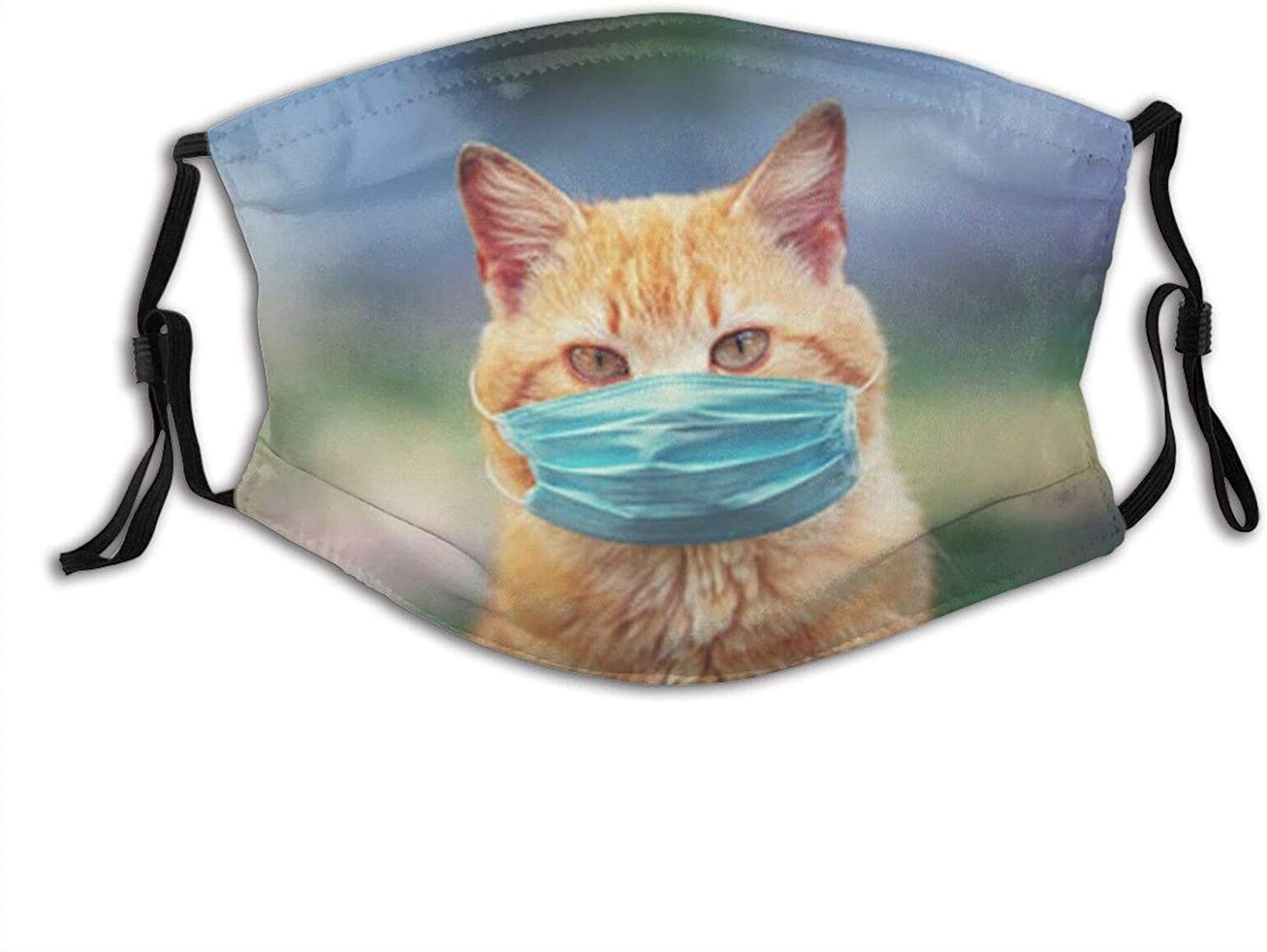 Cat Wearing A Mask Face Mask Washable & Reusable - Adjustable & Breathable Fliter Fashion Scarf