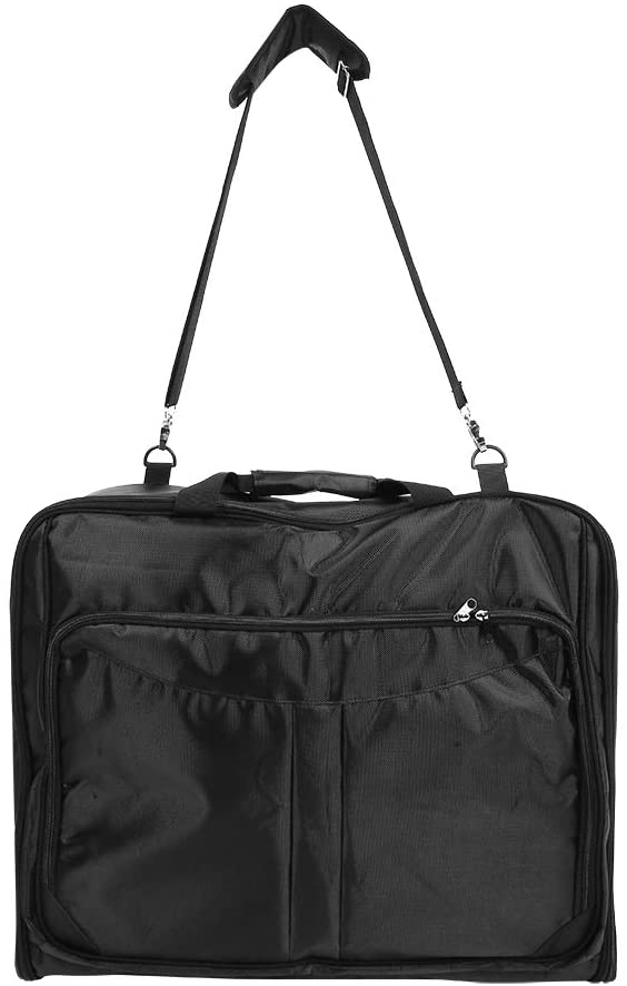 Fdit Suits Garment Bag Carry On Garment Bag with Shoulder Strap and Pockets Waterproof Duffle Bags for Suit Dress and Shirt Clothes Hanging Suitcase During Business Trip and Short Travel