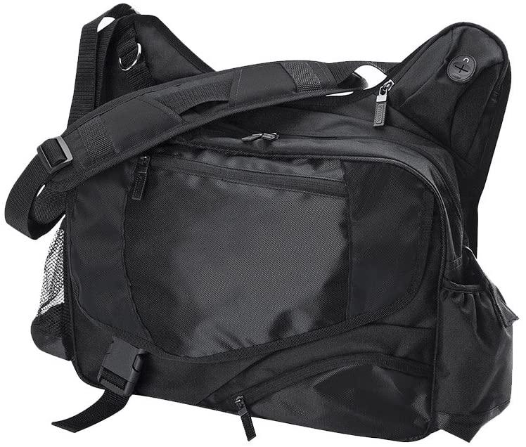 Sweda Amsterdam TSA Checkpoint Friendly 14-Inch Laptop Messenger Bag (Black)