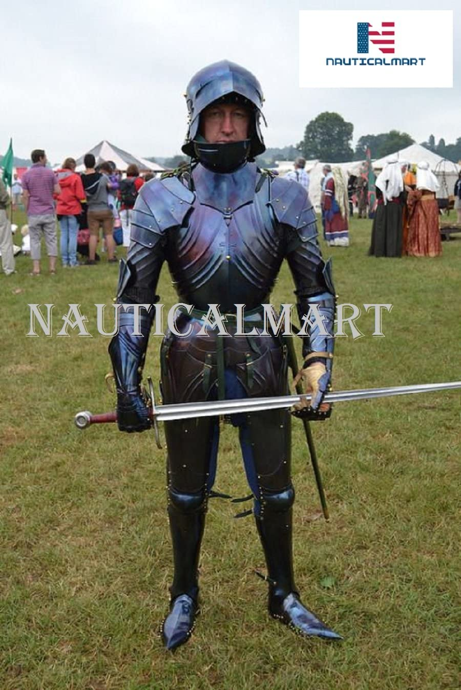 NauticalMart Medieval Knight Wearable Full Suit of Armor German Armor Complete Costume