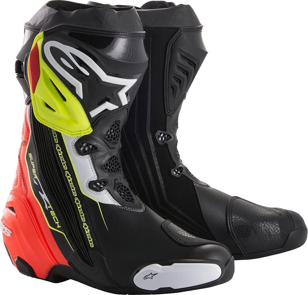 Alpinestars Men's Motorcycle Boots (Black Red Yellow, EUR 46)
