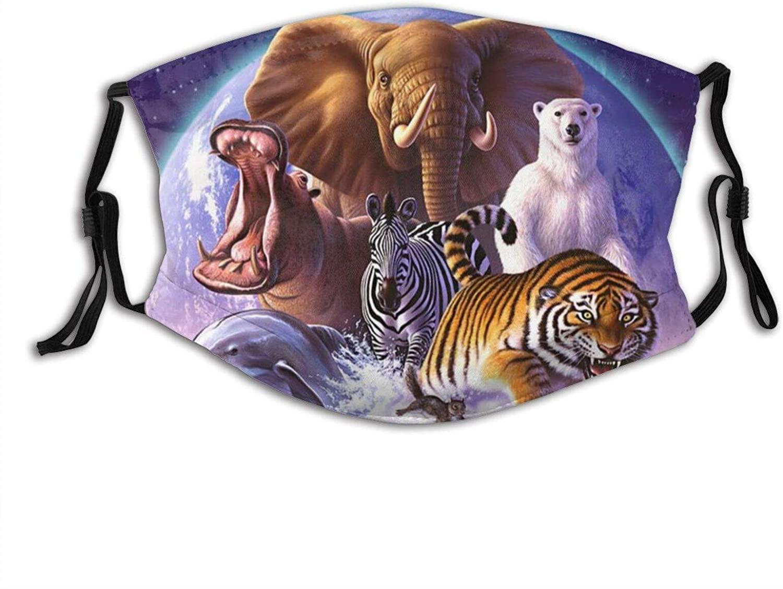 Wild Tigers Face Mask Fashion Dustproof Scarf Breathable Reusable Adjustable Washable Bandana