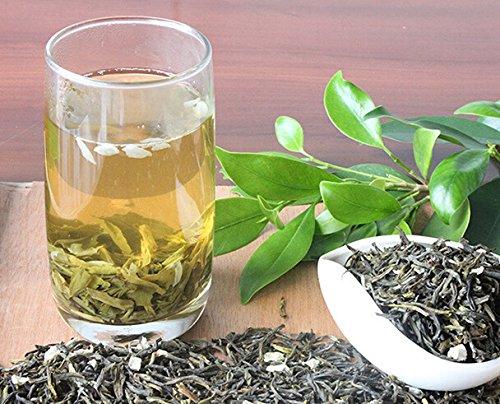 Jasmine green tea high grade with 335 grams loose leaf bag packing