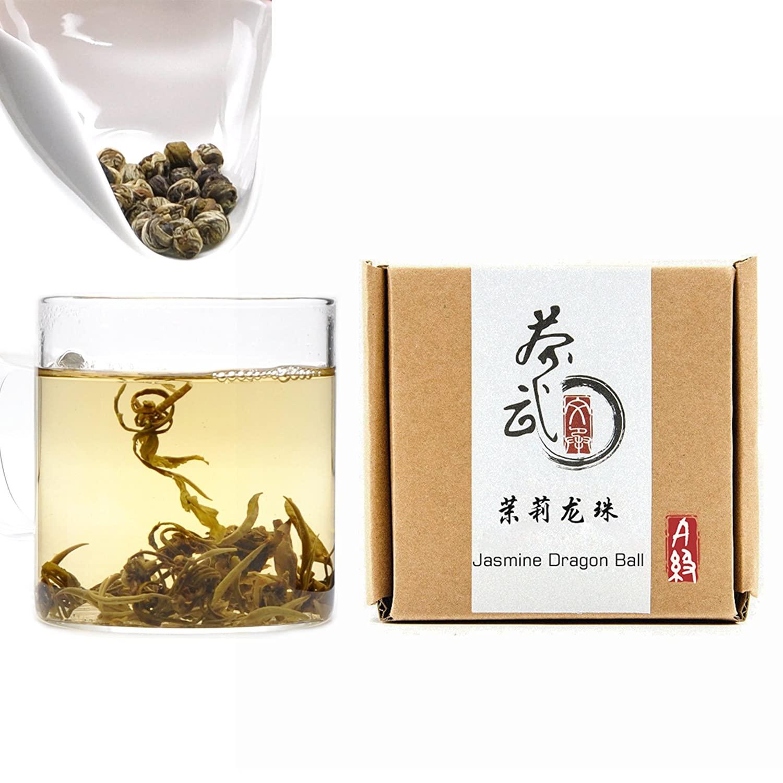 Cha Wu-[A] Jasmine Pearls Tea Dragon Ball,3.5oz/100g,Loose Leaf Green Tea of Chinese