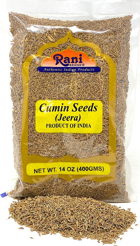 Rani Cumin Seeds Whole (Jeera) Spice 400gm (14oz) ~ All Natural | Gluten Friendly Ingredients | NON-GMO | Vegan | Indian Origin