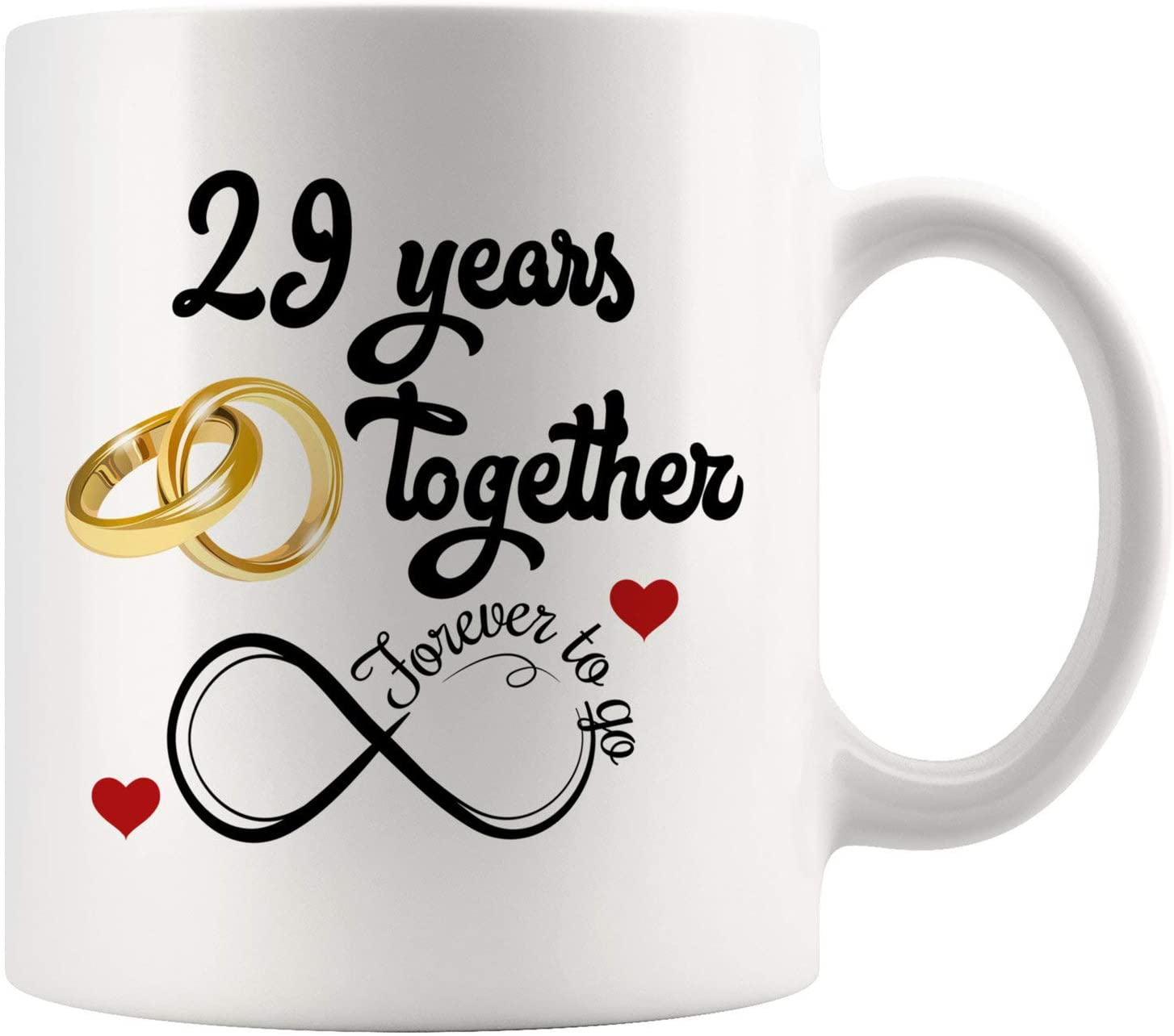 29th Wedding Anniversary For Him And Her, 29th Anniversarys For Her Him, 29th Anniversary Mug For Husband & Wife, 29 Years Together, Married 29 Years, 29 Years Couple (11 oz)