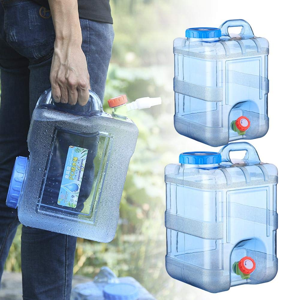 Water Container, Portable Food Safe Camping Water Storage Carrier Jug for Outdoors Hiking Backpack Hurricane Emergency Survival Kit 15L 20L Water Canteen