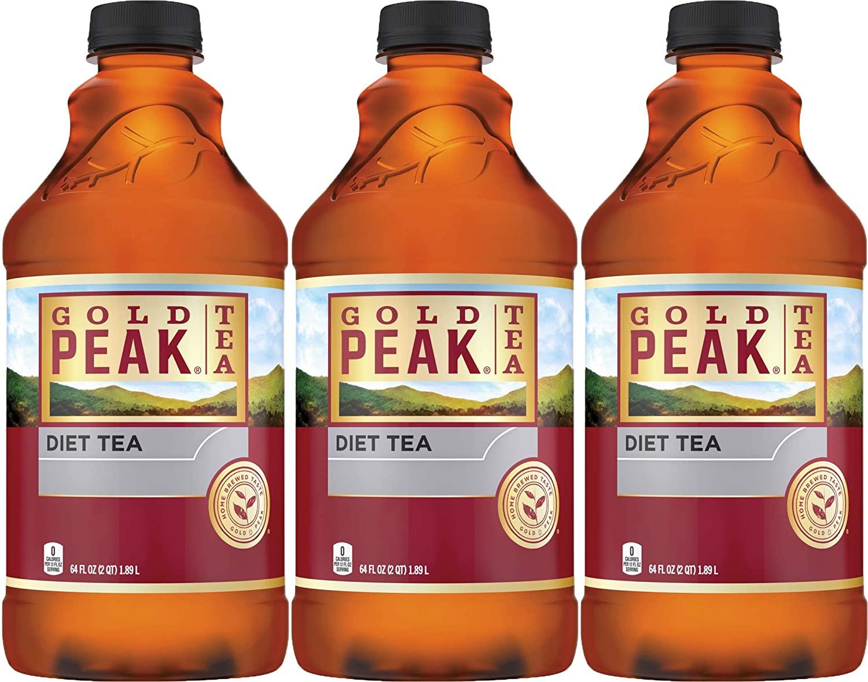 Gold Peak Diet Tea, 64 Fl Oz (Pack of 3, Total of 192 Fl Oz)