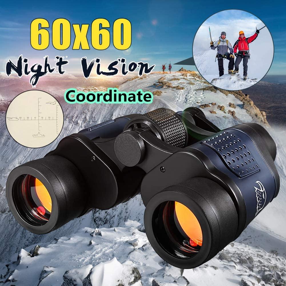 DAZER Optical 60X60 Telescope Night Vision Binoculars High Clarity 3000M Binocular Spotting Scope Outdoor Hunting Sports Eyepiece