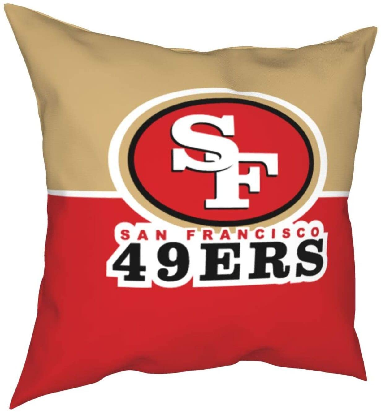 Sa-N Fra-Nci-SCO 49-Ers Square Throw Pillow Covers, Modern Decorative Breathable Cool Ultra Soft Pillow Cases for Indoor Outdoor Bedroom Living Room Bed Sofa 18 X 18 Inch