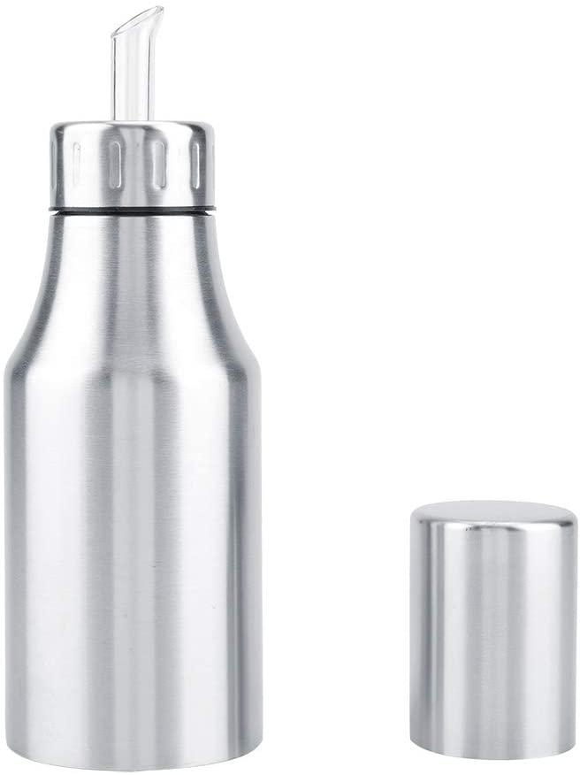 Stainless Steel Olive Oil Bottle Leakproof Vinegar Dispenser Kitchen Spice Storage Can