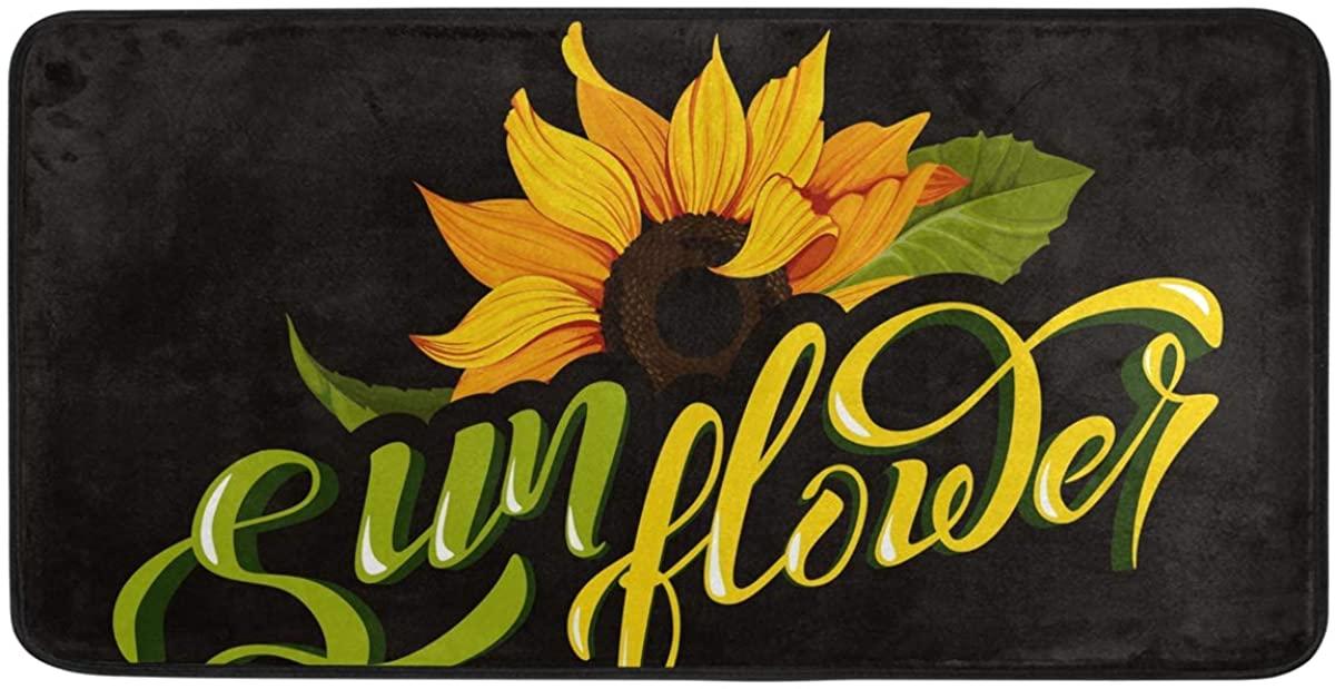 ALAZA Sunflower Kitchen Rugs 39