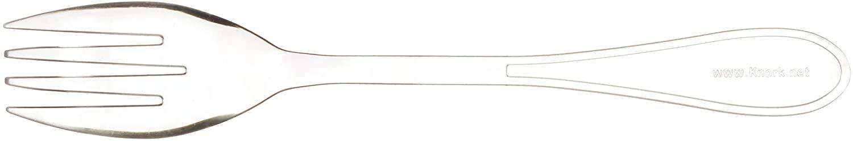 Knork Plasticware Plastic Fork Utensils, 24 Piece, Clear