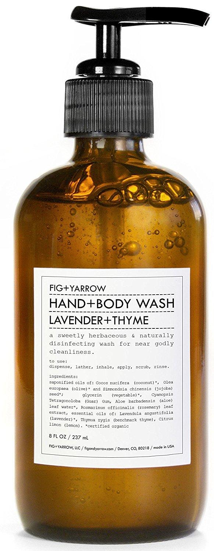 FIG+YARROW - Organic Hand+Body Washes (Lavender+Thyme)