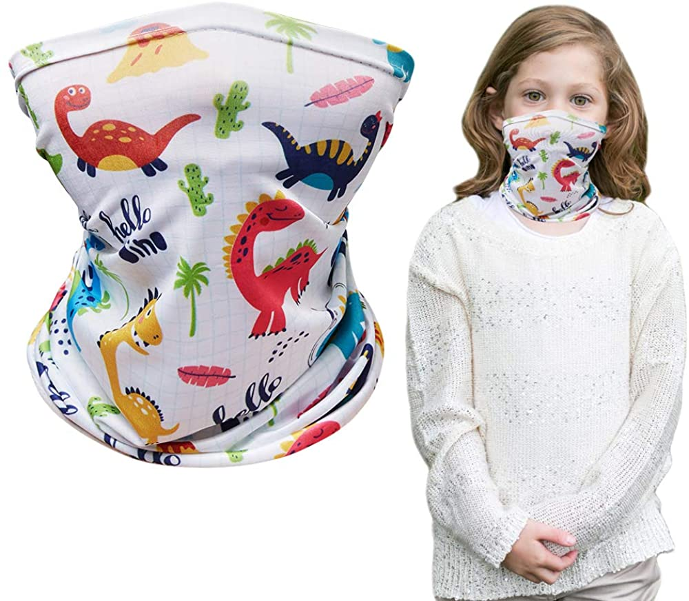Cooling Kids Neck Gaiters, Sun Uv Protection Face Cover for Boys Girls Gift, Face Scarf Bandana for Kids Aged 4-12