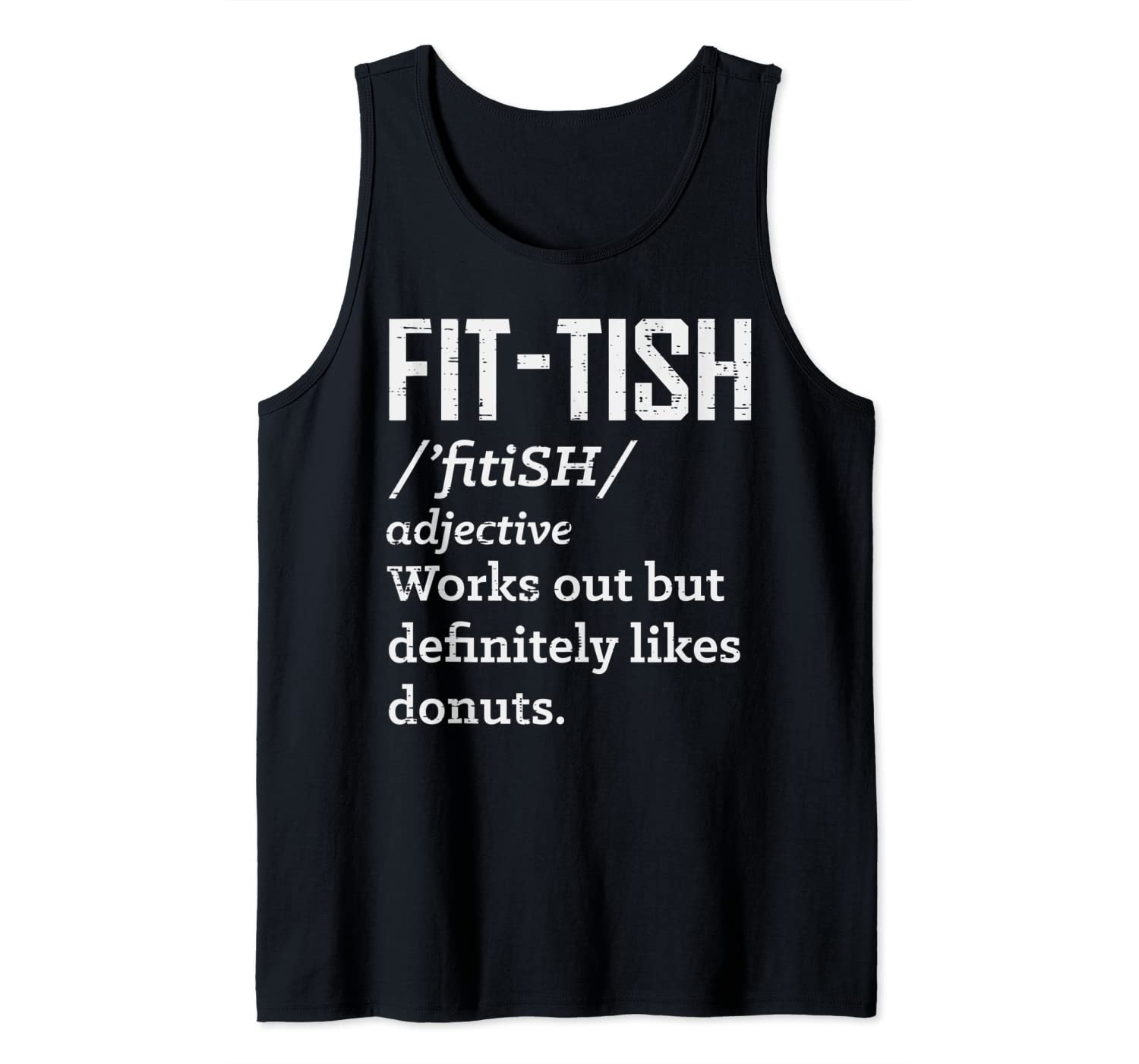 Fit Definition Dictionary Likes Donuts Funny Workout Gift Tank Top