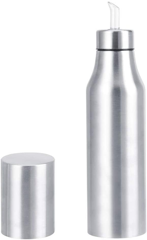 Oil Vinegar Dispensers Leakproof Dispenser Bottles 304 Stainless Steel Dust‑Proof Leakproof Oil Vinegar Bottle Dispenser Pot Kitchen Tools for Olive Oil & Vinegar(500ml)